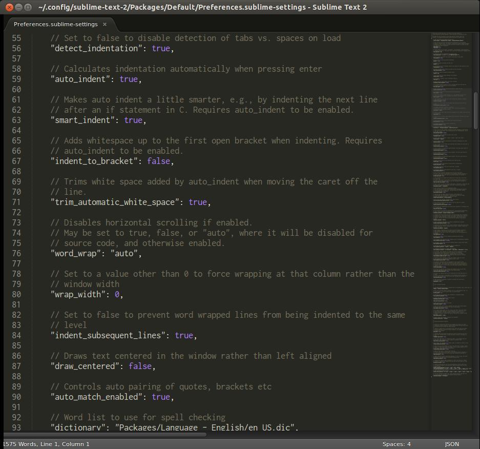 É possível personalizar o Sublime Text em praticamente qualquer detalhe